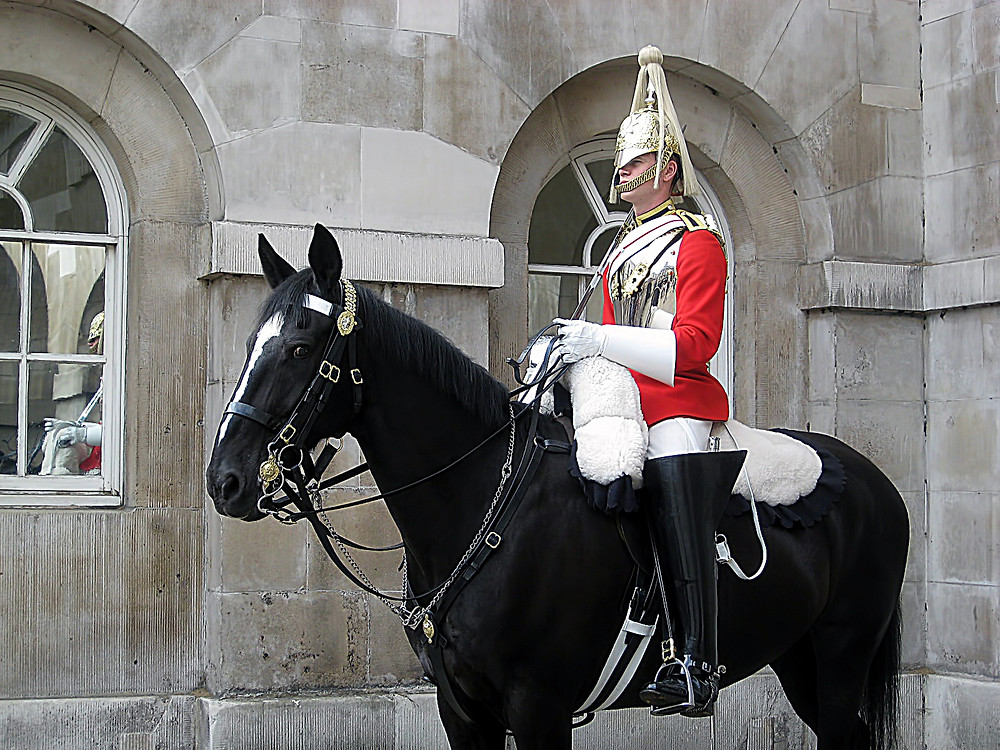 Soldier of the Household cavalry on horseback