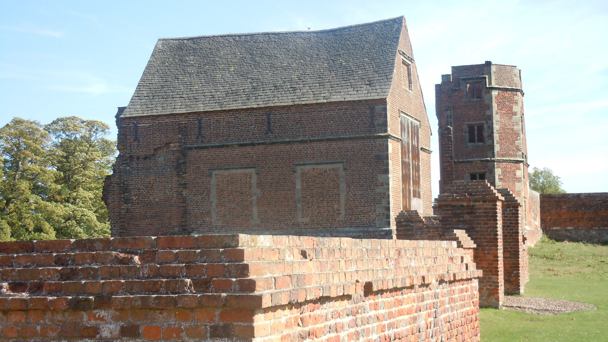 The remains of Bradgate House, home of the Grey family, Lady Jane Grey, Queen of England for nine days was born here. in the year 1537
