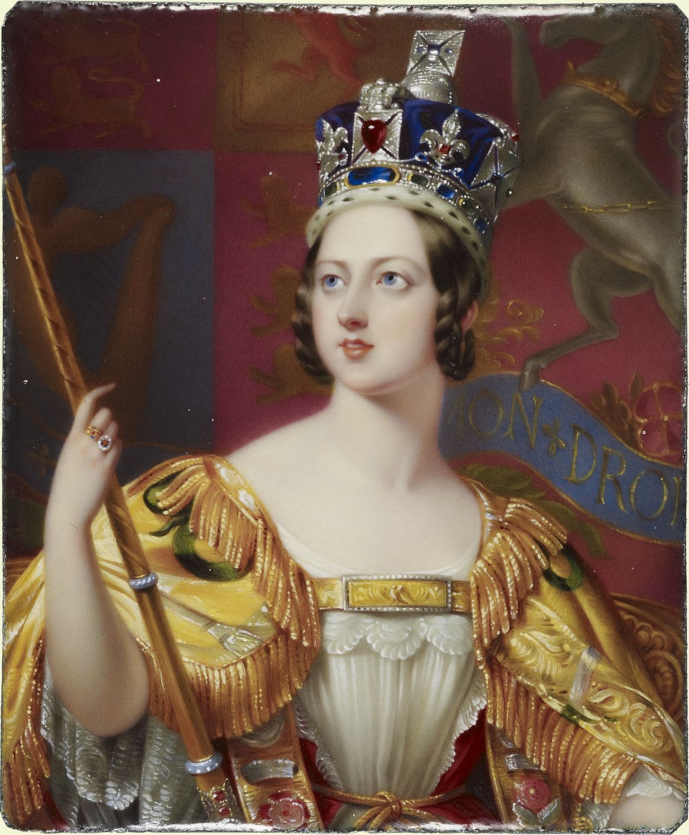 Queen Victoria (1819-1901) 1843 by Henry Pierce Bone
