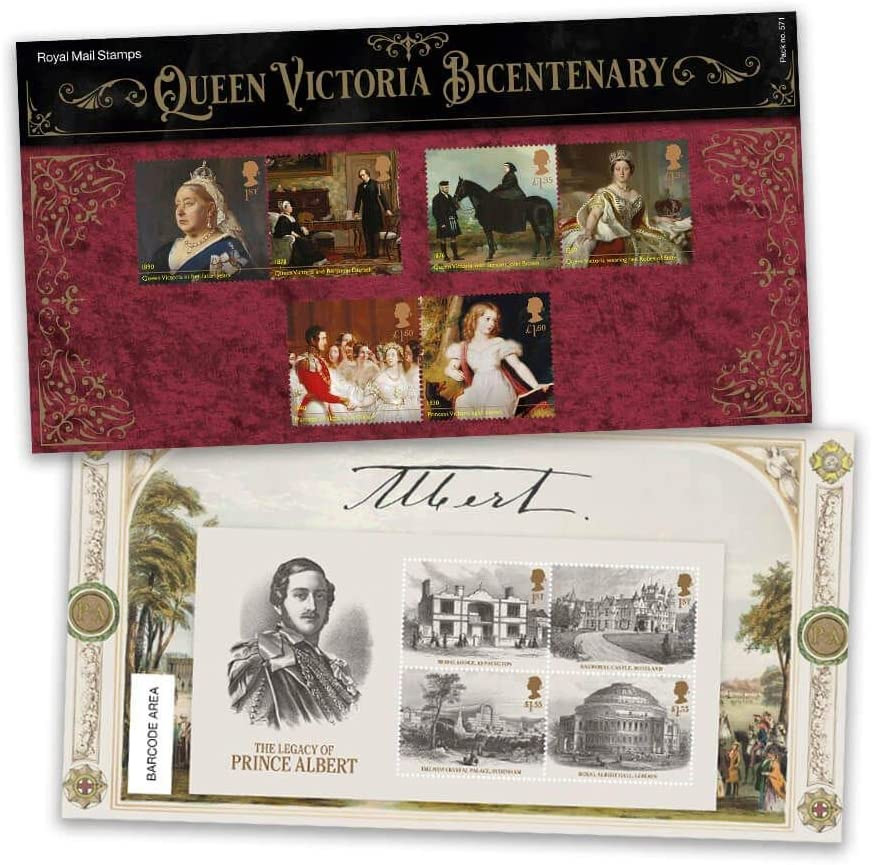 Queen Victoria Bicentenary Stamp Presentation Pack 2019, in our UK store. Royal mail stamp collection.