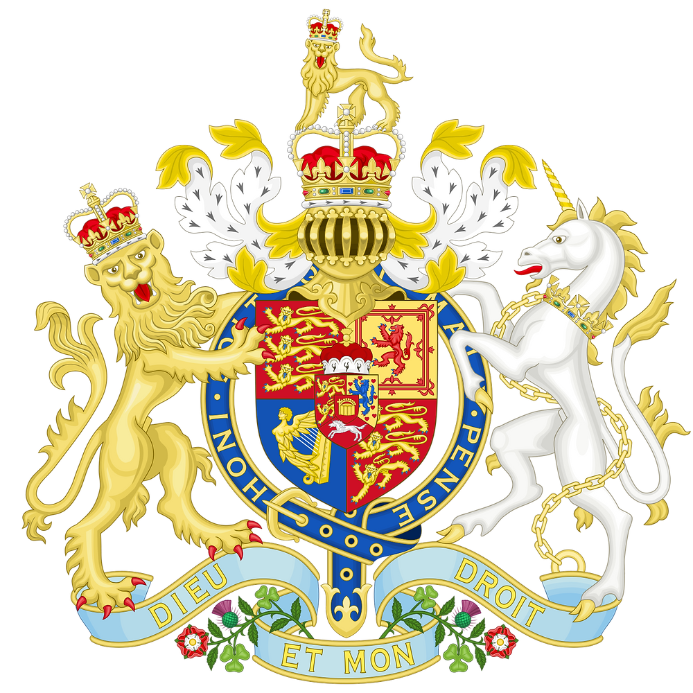 Coat of arms used from 1801 to 1816 as King of the United Kingdom