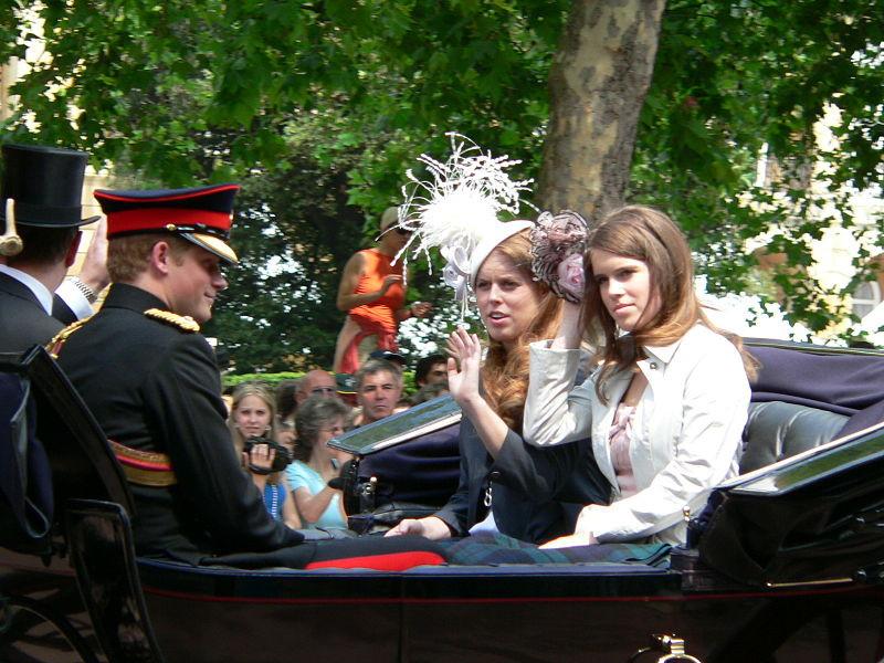Royal family photo Prince Harry with Princess Beatrice & Princess Eugenie