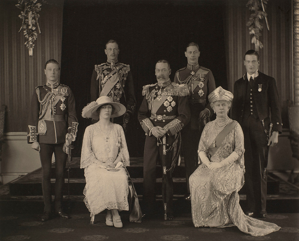 Portrait of King George V, Queen Mary & family 26 Apr 1923 - Royal Collection Trust/© Her Majesty Queen Elizabeth II 2021