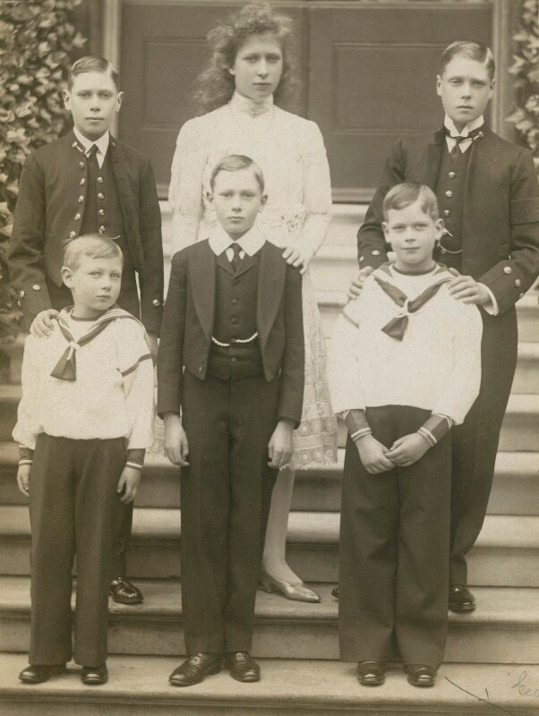 Princess Mary with her five brothers, 1910 - © National Portrait Gallery, London