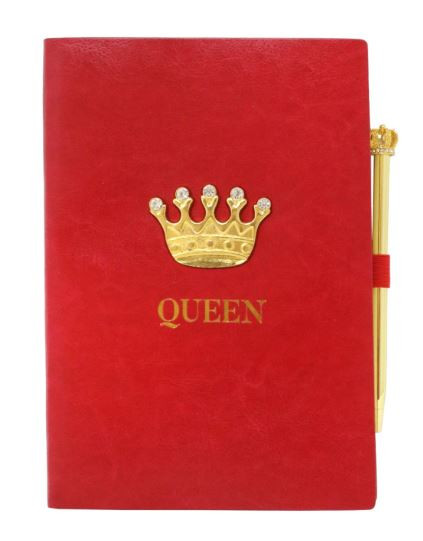 Queen Gold Crown Notebook - Red - at the English Heriage shop