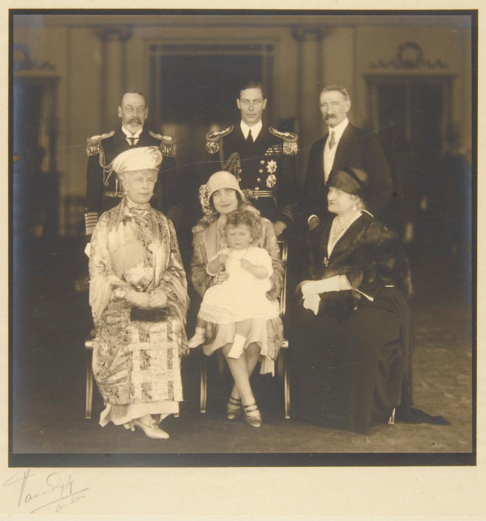Royal Family, Queen Elizabeth II christening family photo 1926