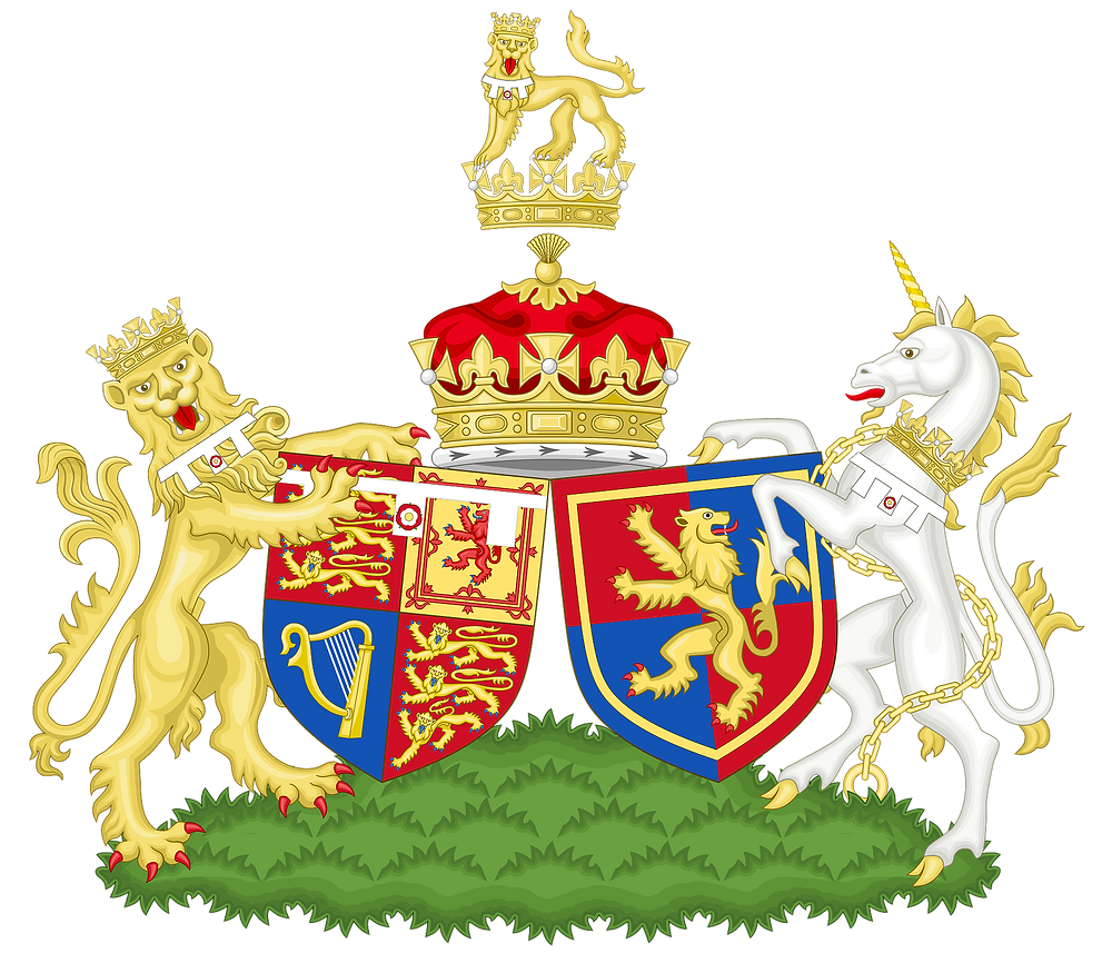 Combined coat of arms of the Earl and Countess of Wessex