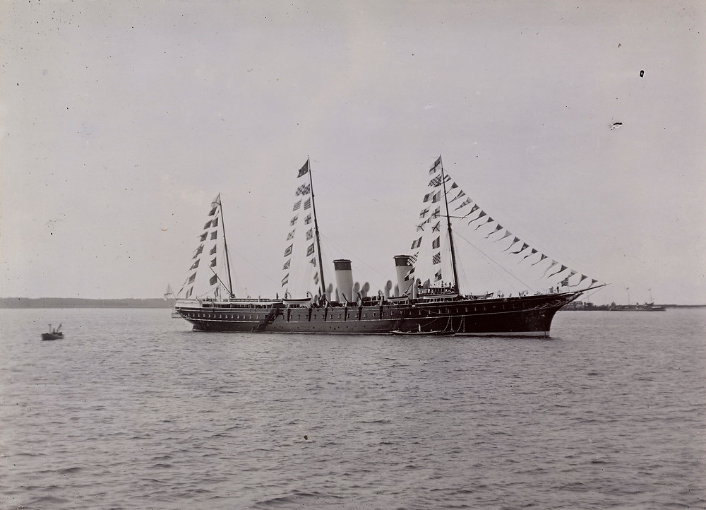 Imperial Russian Yacht Standart, Jun 1908. Royal Collection Trust/© Her Majesty Queen Elizabeth II 2019. Russian Yacht, Russian Royal family
