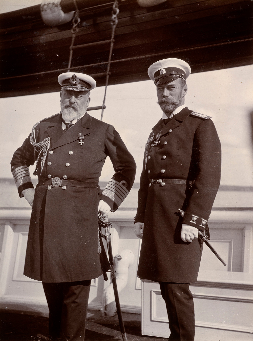 King Edward VII and Tsar Nicholas II, Jun 1908. Royal Collection Trust/© Her Majesty Queen Elizabeth II 2019