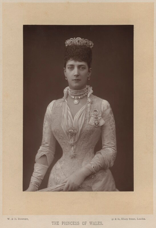 Queen Alexandra  by W. & D. Downey, published by Cassell & Company, Ltd carbon print, 27 July 1889, published 1891 NPG x36287  © National Portrait Gallery, London