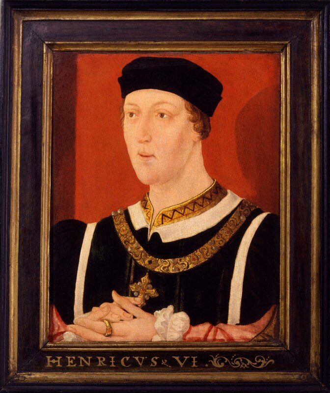 King Henry VI portrait by unknown artist, from the National Portrait Gallery London