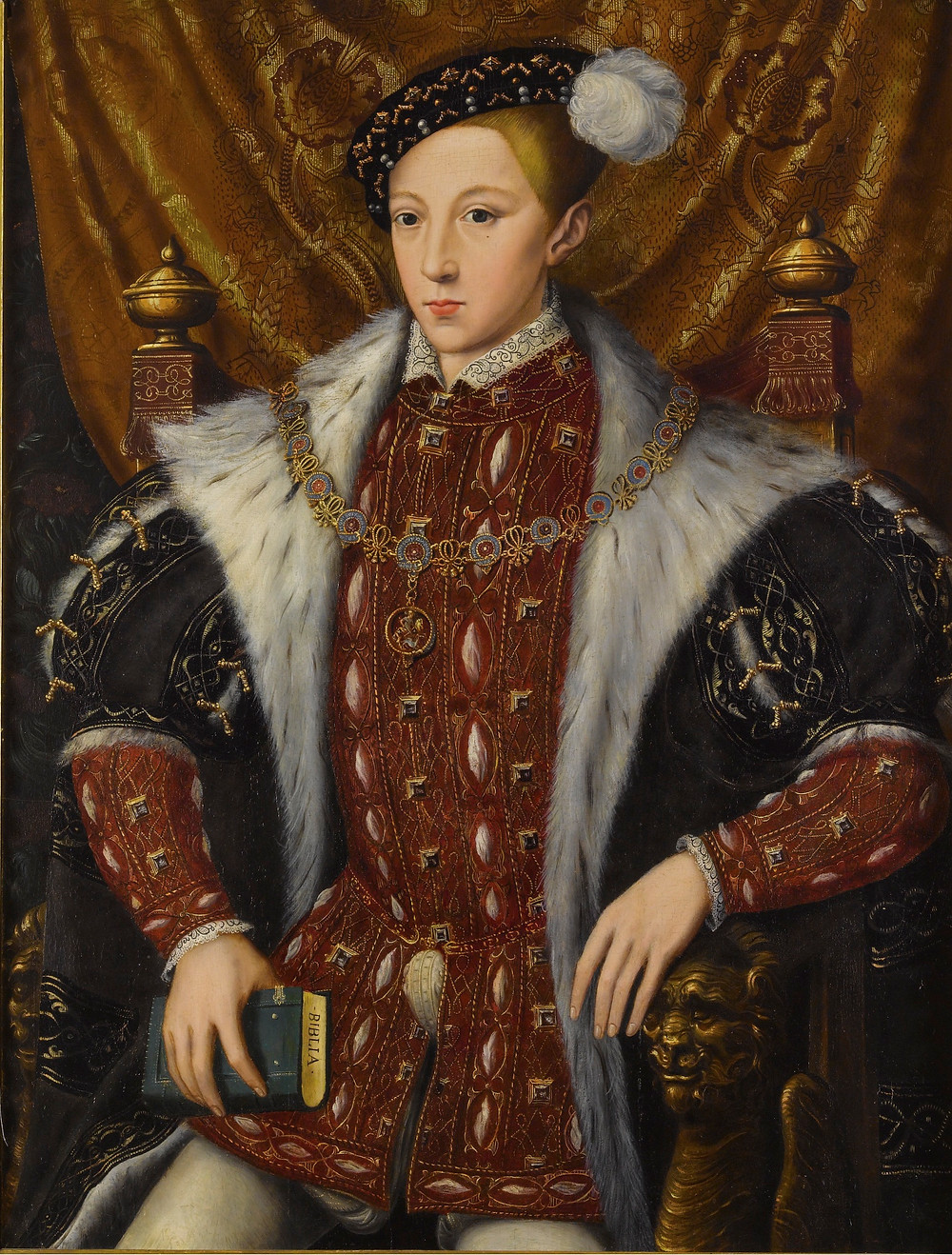 Edward VI, king of England, the son of Henry VIII & Jane Seymour