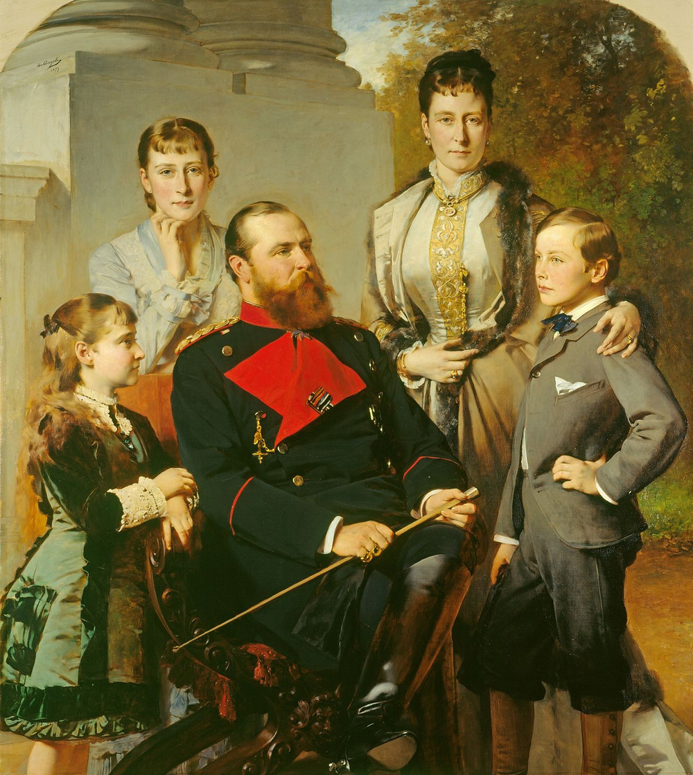 The Family of the Grand Duke of Hesse Signed & dated 1879. By BARON HEINRICH VON ANGELI. Royal Collection Trust/© Her Majesty Queen Elizabeth II 2020