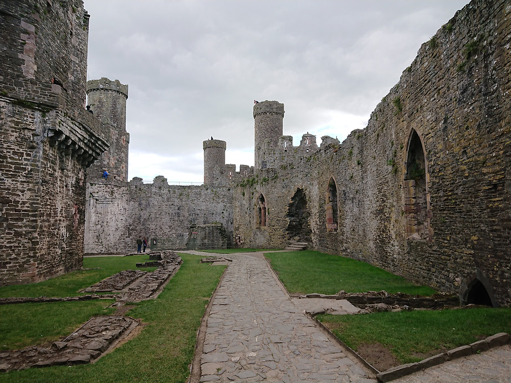 Inside view of Conwy castle, Conwy, North wales. MedieVAL CASTLE BUILT BY eDWARD I king of England