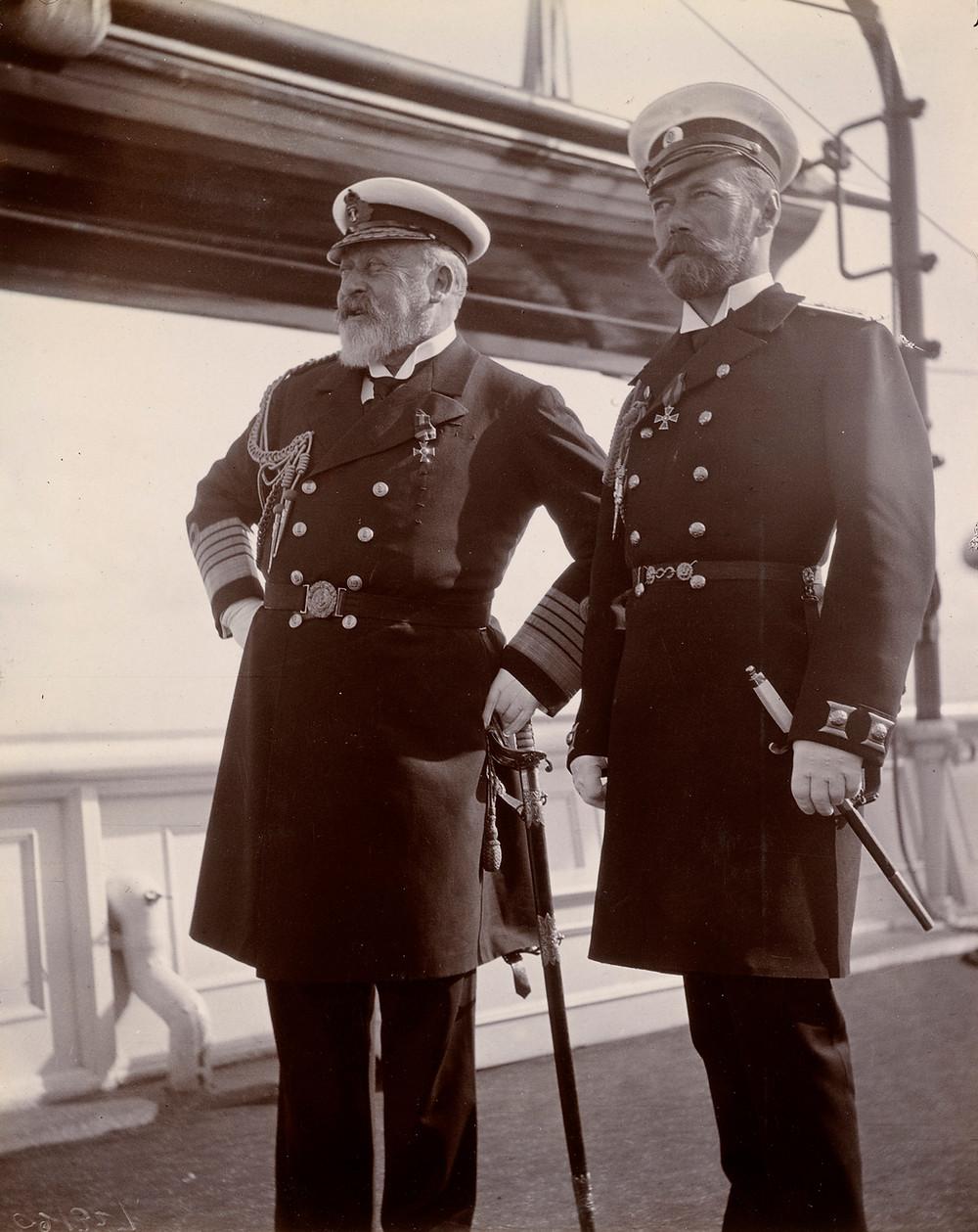 King Edward VII & Tsar Nicholas II,Jun 1908. Royal Collection Trust/(c) Her Majesty Queen Elizabeth II 2019