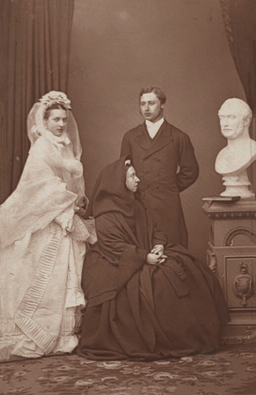 Queen Alexandra; Queen Victoria; King Edward VII  by John Jabez Edwin Mayall carbon print, April 1863 NPG x36269  © National Portrait Gallery, London