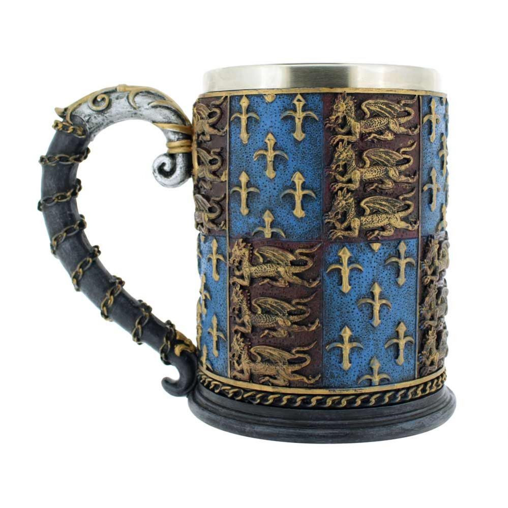 Heraldic tankard at the English Heritage Shop, drink like a king