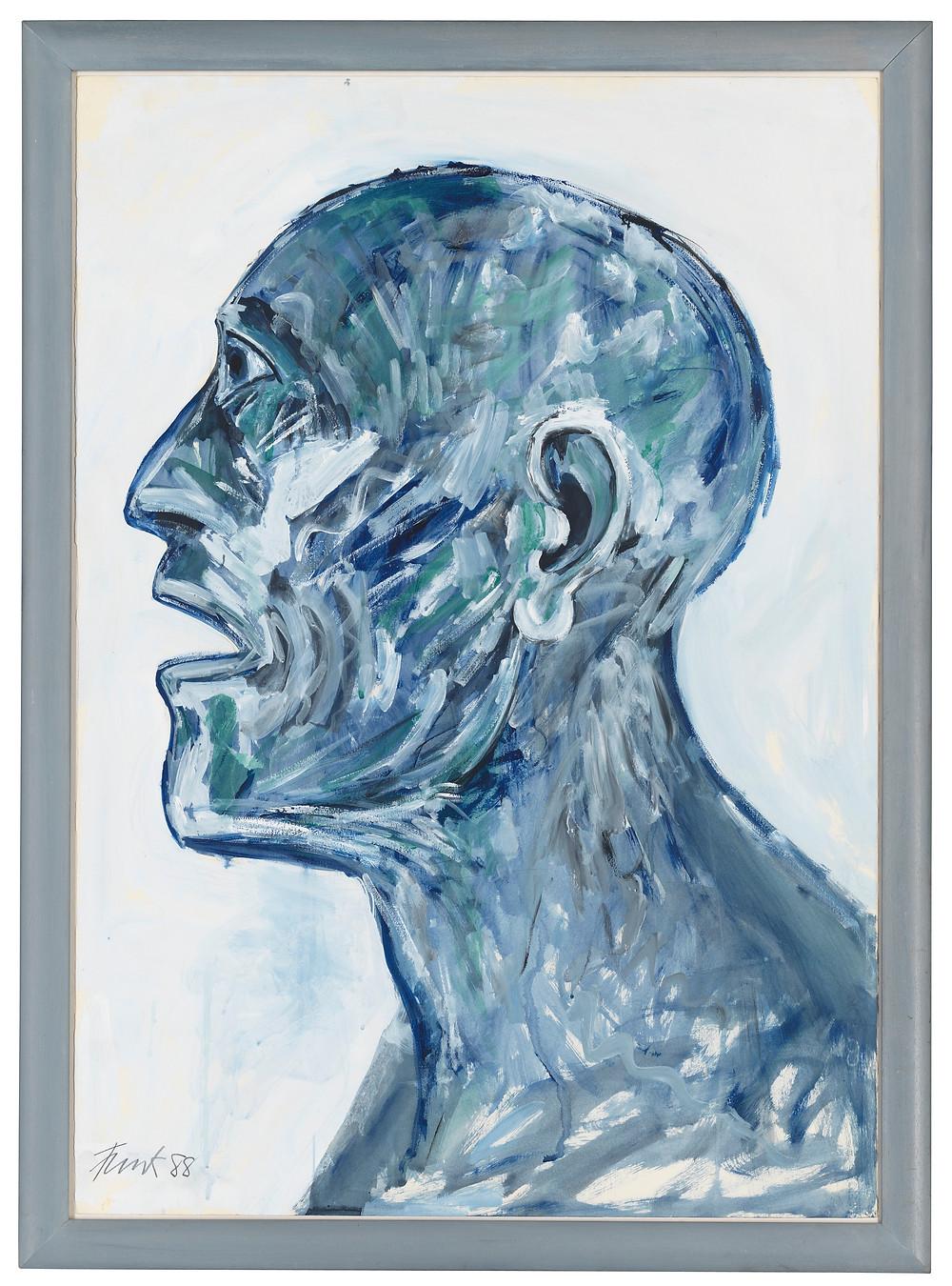 Fine Art portrait. Dame Elisabeth Frink, R.A. (1930-1993)   Head . Royal history. Artwork. Christies.com