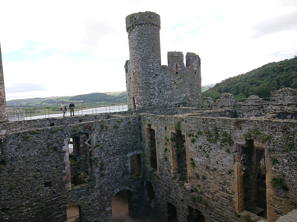 inside Conwy castle, North Wales, a medieval castle built by Edward I king of England