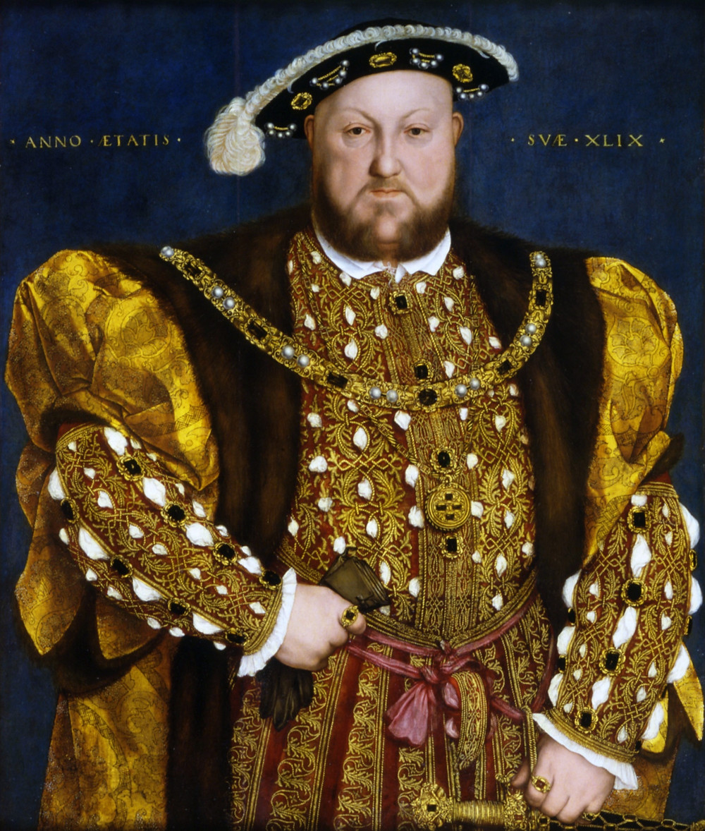 Henry in 1540, by Hans Holbein the Younger. King Henry VIII of England portrait painting