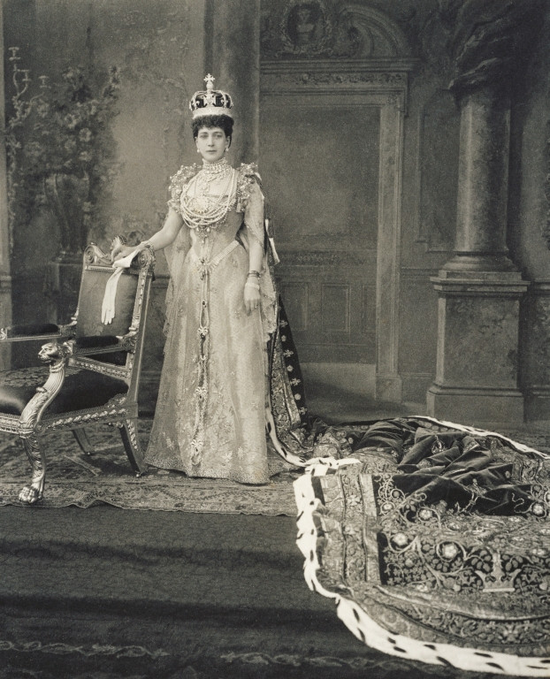 Queen Alexandra in coronation robes, 1911. Alexandra was the wife of king Edward VII. Royal Collection Trust/© Her Majesty Queen Elizabeth II 2018