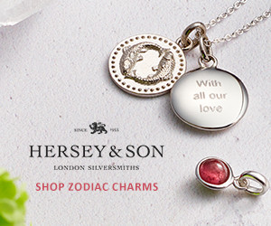 Hersey & Son London Silversmiths, Zodiac Charms. Hersey & Son are a traditional London based Silvermiths, & each product is hand crafted in their London studio