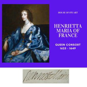 Henrietta Maria of France, Bourbon Queen Consort of England as the wife of Charles I.