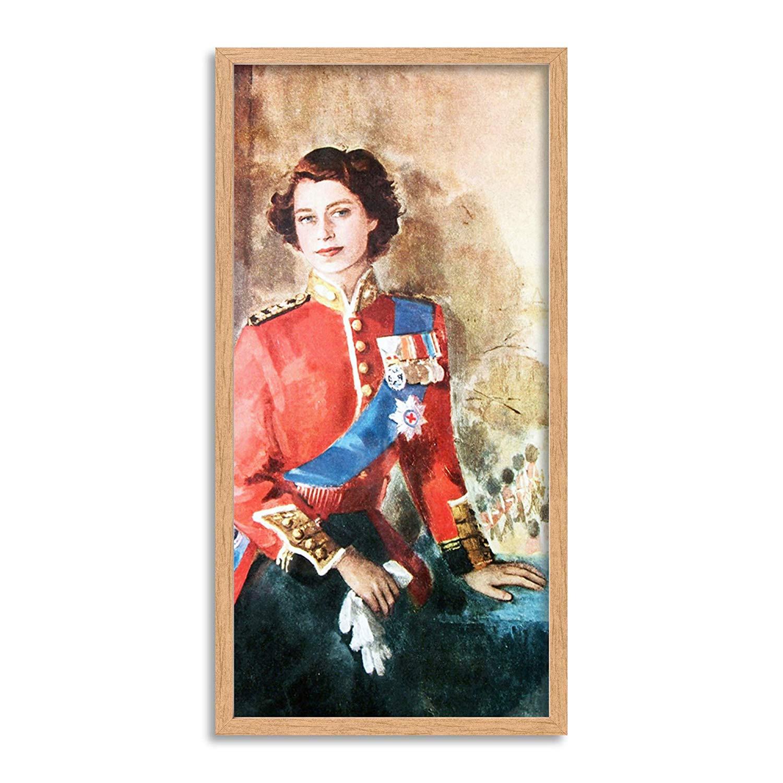 Wee Blue Coo Queen Elizabeth Ii England Long Panel Framed
