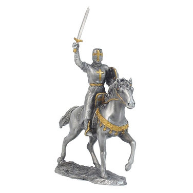 Mounted knight with lion rampant shield model