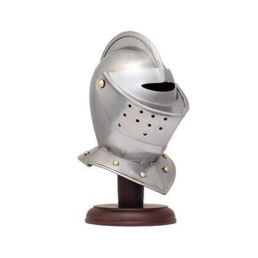 Mini Close Helm Model on stand