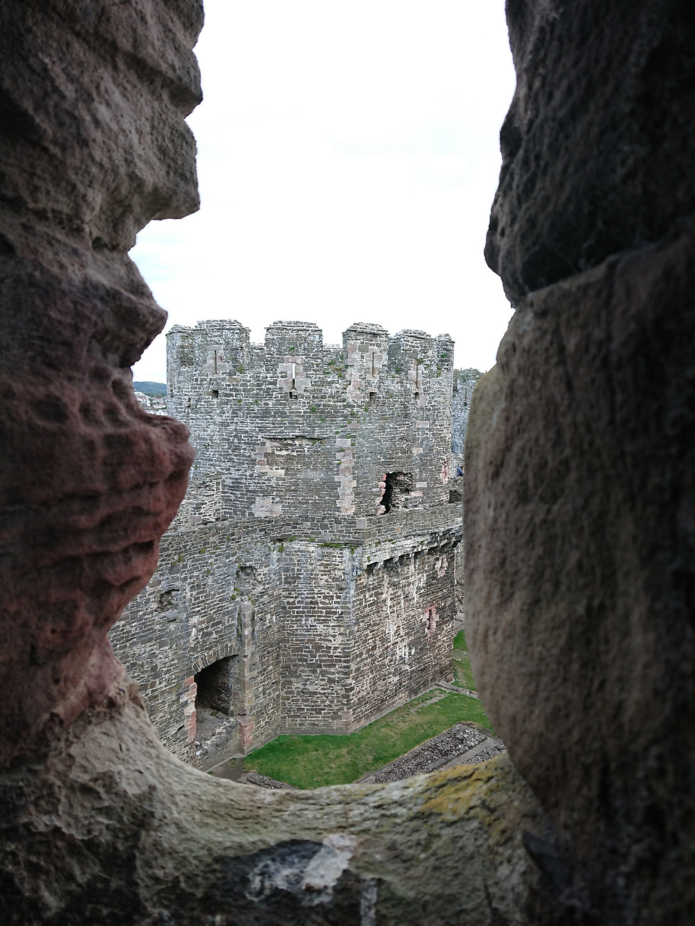 general view of the inside of Conwy castle, Conwy, North Wales