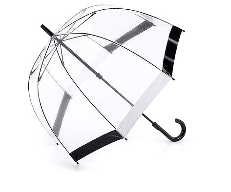 Fulton Birdcage 1 Umbrella - Black & white
