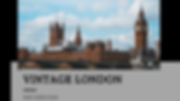 Vintage London video page cover, Big Ben, Houses of Parliament, River Thames