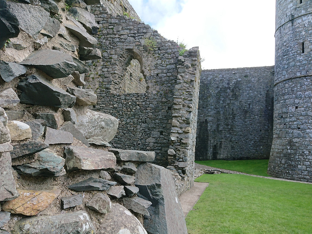 inside Harlech castle, in North Wales