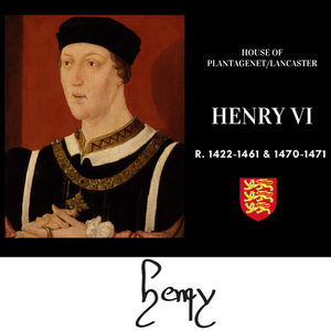 Plantagenet king Henry VI of the Lancastrian branch of the family, his reign led to the Wars of the Roses. King of England