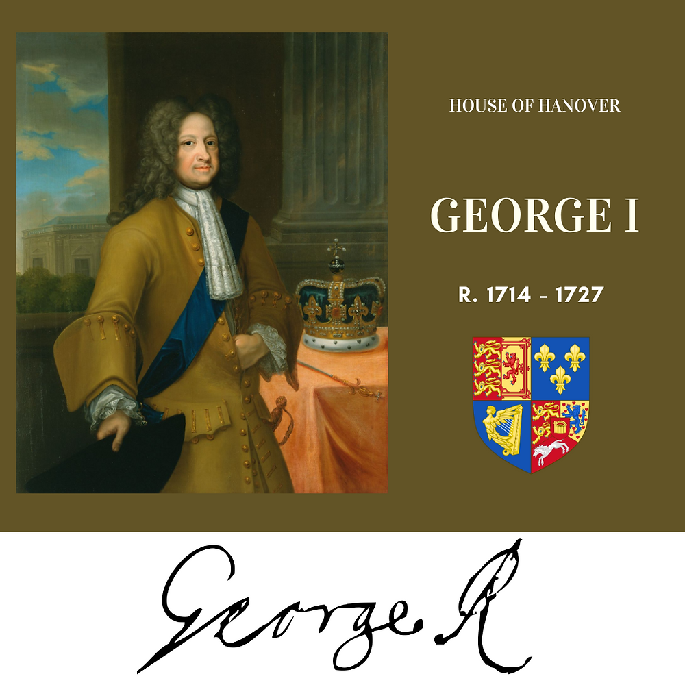 George I , King of Great Britain, the first Hanoverian king of Great Britain