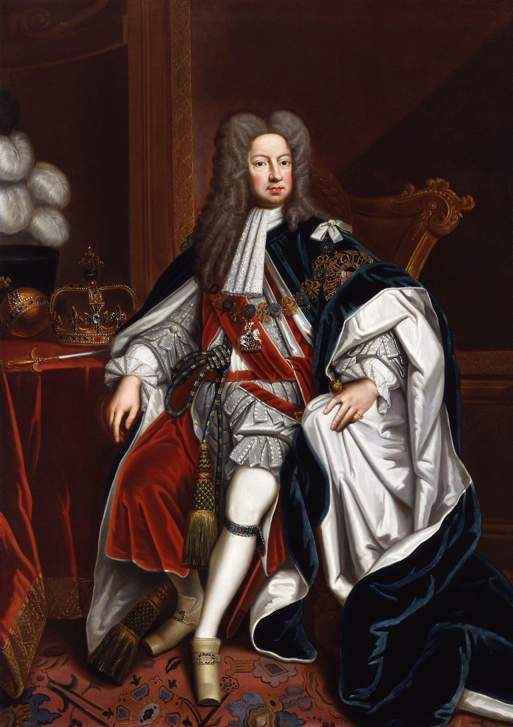 King George I by Sir Godfrey Kneller. The first king of Great Britain of the House of Hanover