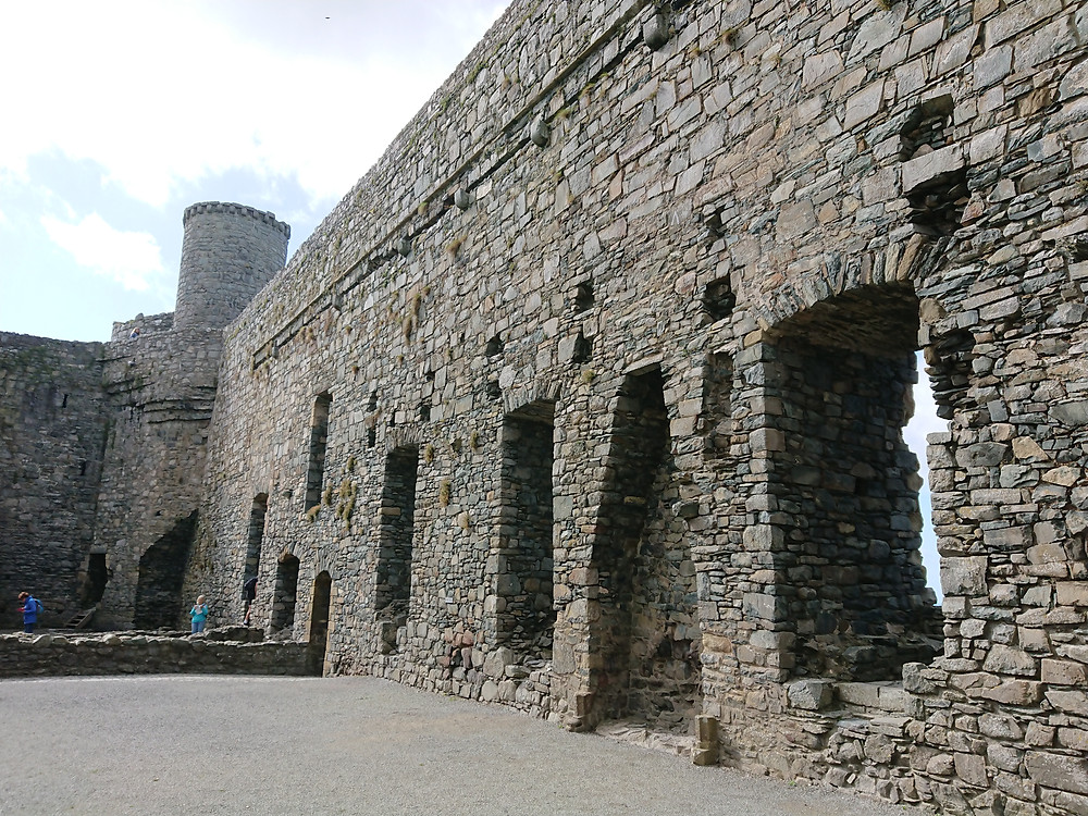 The castle kitchens inside Harlech castle, Harlech, North Wales