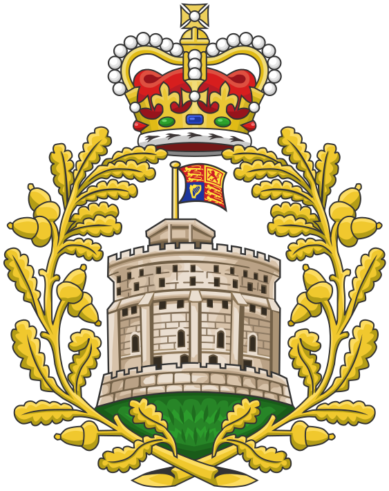 The House of Windsor coat of arms. The British Royal Family