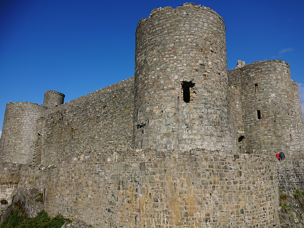 Harlech castle, a medieval stronghold builtt by Plantagenet king Edward I of England