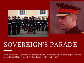 The Sovereign's Parade at RMA Sandhurst