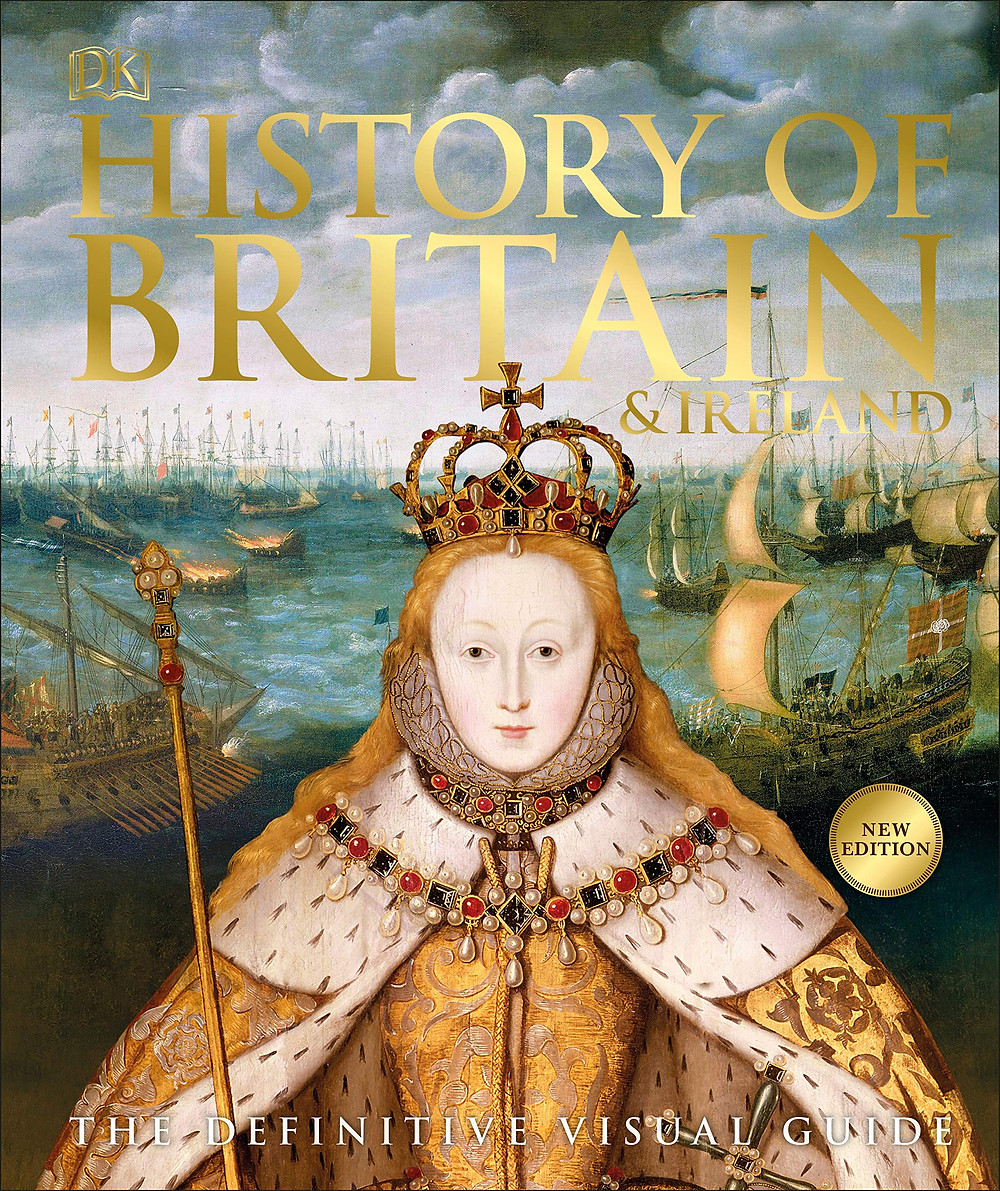 History of Britain & Ireland: the definitive visual guide. hardcover book. combining over 700 photographs, maps, & artworks with accessible text. an invaluable resource for families, students, & anyone keen to learn more about the fascinating story of England, Scotland, Wales & Ireland.