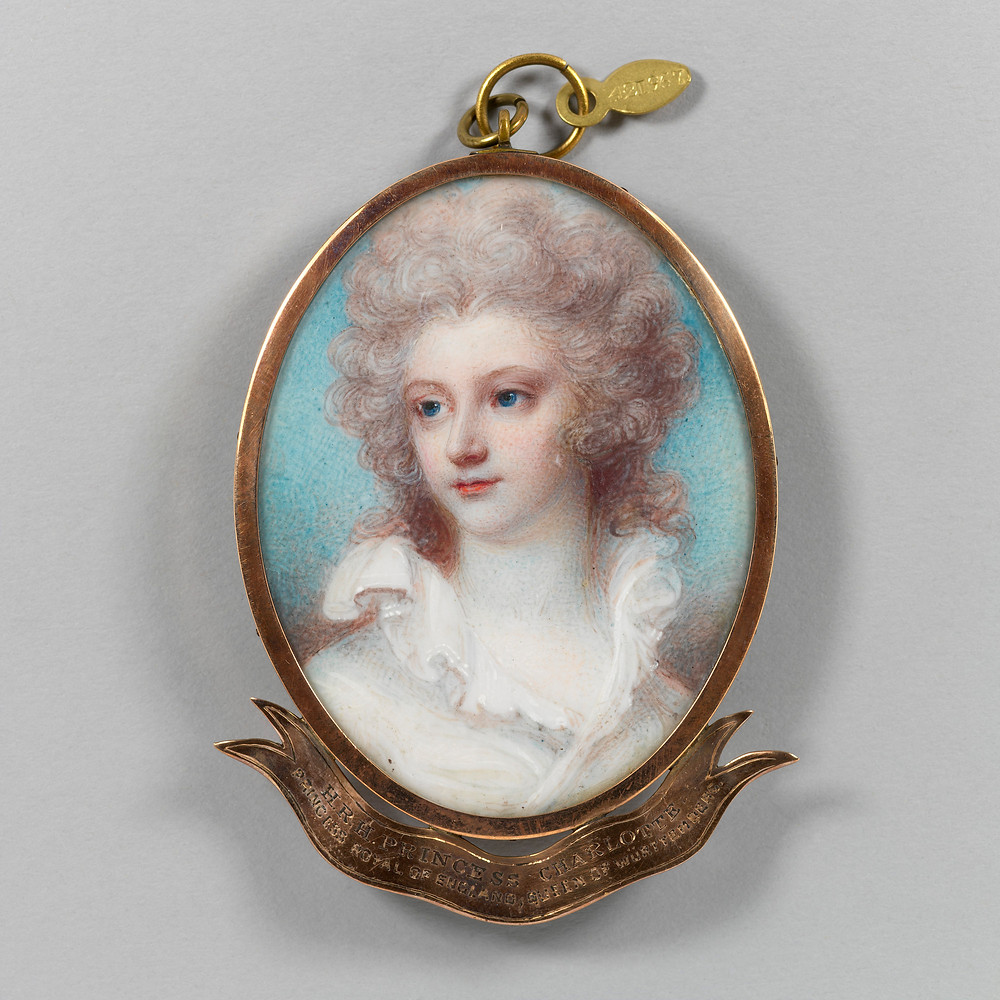 Princess Charlotte, Princess Royal c.1790 ATTRIBUTED TO MRS JOSEPH MEE,  Royal Collection Trust/© Her Majesty Queen Elizabeth II 2018