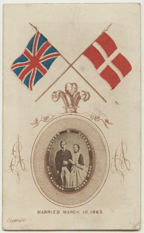 King Edward VII; Queen Alexandra  after Ghémar Frères albumen carte-de-visite, 1863 (September 1862) NPG x131221  © National Portrait Gallery, London