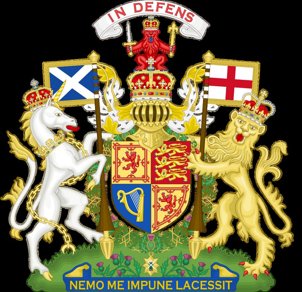 Elizabeth II coat of arms as used in Scotland