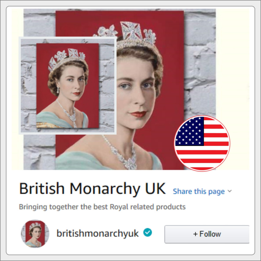 British monarchy U.S amazon store link banner