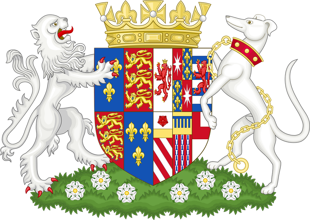Coat of arms of Elizabeth Woodville, Queen of England as the wife of Edward IV.