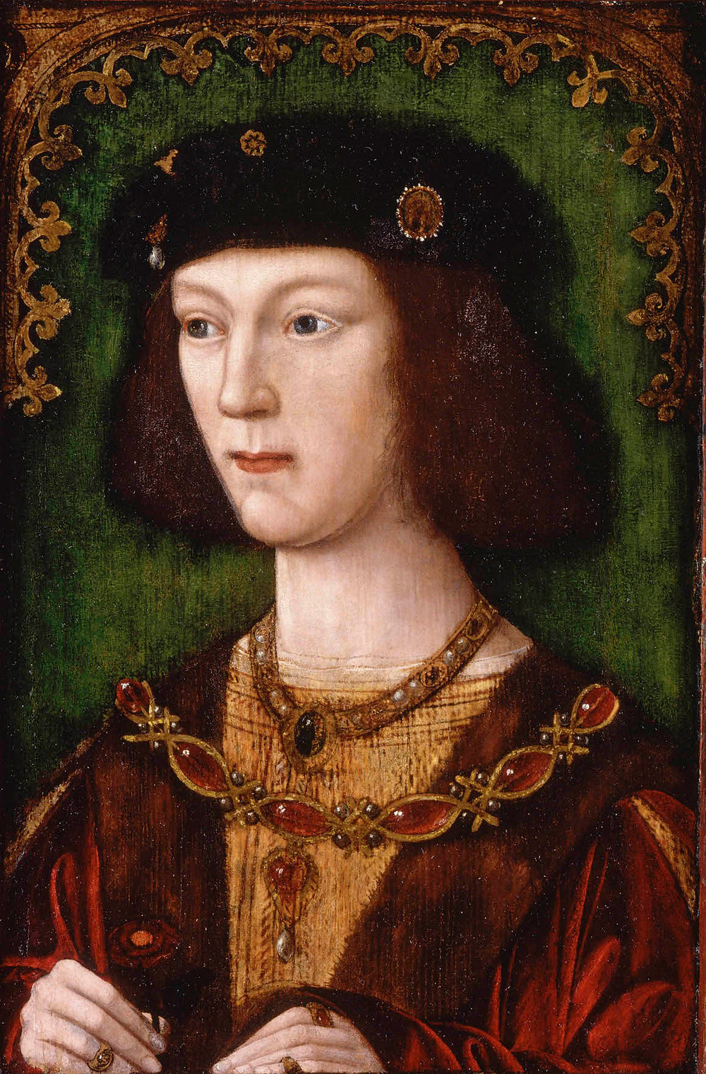 Henry VIII aged eighteen in 1509, shortly after his coronation