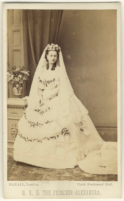 Queen Alexandra  by John Jabez Edwin Mayall albumen carte-de-visite, 18 March 1863 NPG Ax24175  © National Portrait Gallery, London