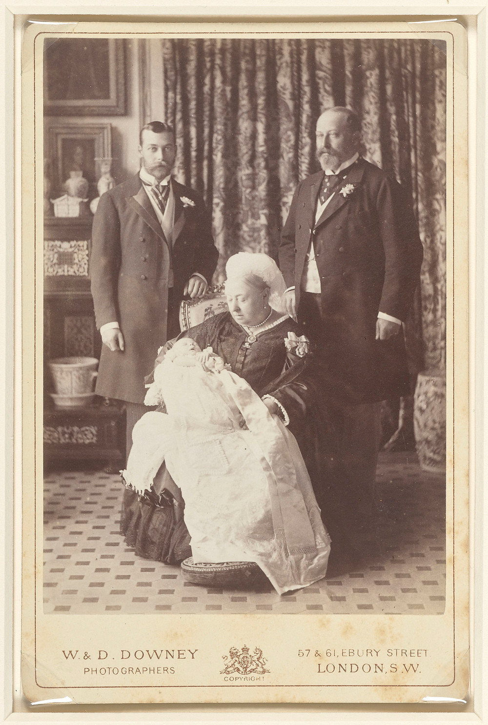 The Four Generations, White Lodge, Richmond 16 Jul 1894. Queen Victoria, Edward VII, George V & Edward VIII